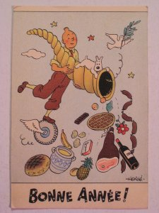 1944-tintin-french-postcard-bonne-annee-happy-new-year_400162847152